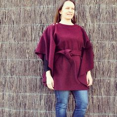 Maroon Carnaby Cape   http://www.handmakersfactory.com.au/Blog/tabid/222/articleType/ArticleView/articleId/1654/The-Carnaby-Cape-Sewalong--The-finished-cape.aspx