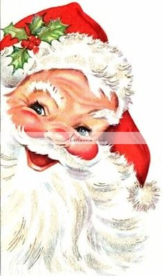 Santa Christmas Card - looks like a card from when I was little