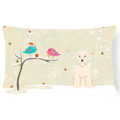 Carolines Treasures Christmas Presents Between Friends Soft Coated Wheaten Terrier Outdoor Pillow - BB2533PW1216