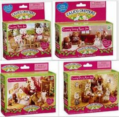 Calico Critters Country Treehouse Dining Room Bedroom 2 Furniture Sets By International Playthings 32 95 Can Be Used With Other