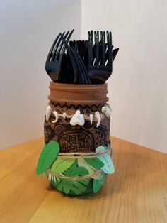 Maui Painted Mason Jar (from Moana)