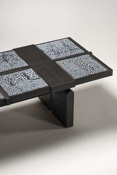 #TERZO #coffee table #enameled ceramic #ashwood #craftsmanship #madeinfrance #brunomoinardeditions #interiordesign