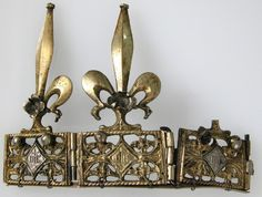 Crown (fragment), France (14th c.; gilt copper, silver). www.metmuseum.org.