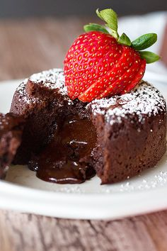 Molten Chocolate Lava Cake Molten Chocolate Lava Cake is such a delicious classic! It's moist and so chocolaty and when you cut into it, luscious chocolate oozes out!  Chocolate is the key to happi…