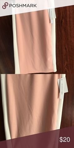Brand new pink and white pencil skirt Hits just below the knee, soft material, brand new Joe B Skirts Pencil