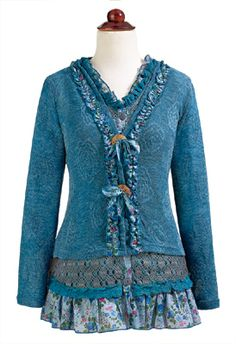 New for Spring - Dusty Blue Layered Tunic, Only at GaelSong Irish Clothing, Dusty Blue, Spring Collection, United Kingdom, Celtic, Ireland, Tunic Tops, Random, Blouse