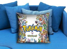 Pokemon Pillow Case 2  These soft pillowcase made of 50% cotton, 50% polyester.  It would be perfect to decorate your home by using our super soft pillow cases on sofa, chair, bench or bed.  Customizable pillow case is both comfortable and durable, improving the quality of your sleep with these comfortable pillow case, take it home now!  Custom Zippered Pillow Cases available in 7 different size (16″x16″, 18″x18″, 20″x20″, 16″x24″, 20″x26″, 20″x30″, 20″x36″)