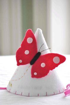 Felt Butterfly Party Hat