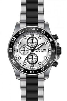 Invicta 15209 Pro Diver Chronograph Silver Dial Two-tone Mens Watch