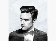 HelloVon Studio www.hellovon.com Leading portrait illustrator. Justin Timberlake. Cover Illustration, JT, cool, colour, music, contemporary, modern, motion, portrait, painting, ink, watercolour, celebrity, icon, hero, iconic