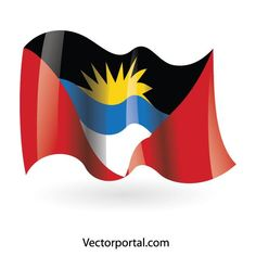Antigua and Barbuda wavy flag. Always reppin our Caribbean roots! Free Vector Images, Vector Free, Tropical Beaches, Romantic Places, Vector Graphics, South America, In This World, Flags, Caribbean