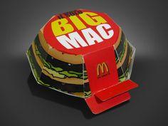 Prototype Big Mac packaging. Way better looking than the actual ones