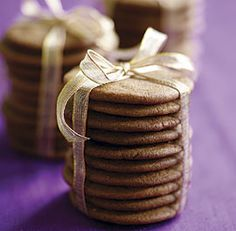 Ginger Snaps from FineCooking.com. A nice recipe: crispy rather than chewy. Go easy on the cinnamon.