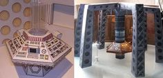 Doctor Who Papercaft: TARDIS Interiors | Tektonten Papercraft These two paper models of TARDIS interiors are the creation of Philip Lawrence. Philip runs Action Figure Theatre, a website devoted to creating online Doctor Who comic books constructed from photographs of action figure toys. On the left is the 80's version of the tardis used by the 5th, 6th and 7th doctors. On the right is the tardis as it appears in the 1996 Doctor Who movie which features the 8th doctor