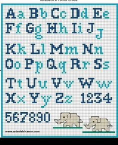 Have you decided to cross-stitch the school apron for your child? Did you find a cross-stitch alphabet pattern? If you are looking for an embroidery pattern with simple cross stitch letters, I suggest you to register now at www. Crochet Alphabet, Crochet Letters, Cross Stitch Alphabet Patterns, Cross Stitch Letters, Cross Stitch Designs, Alphabet Charts, Alphabet Letters, Cross Stitching, Cross Stitch Embroidery