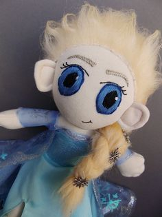 Elsa Disney Frozen Plush Doll Plushie Toy by MrDollsyPlushberley
