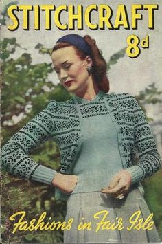 Stitchcraft Vintage Fair Isle Knitting Pattern Book 1940's
