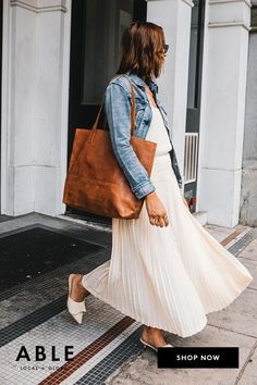 Meet your everyday tote. Shop the Mamuye. Distressed Leather, Slow Fashion, Jacket Style, Chic Outfits, Fashion Brands, What To Wear, Style Inspiration, My Style, Meet