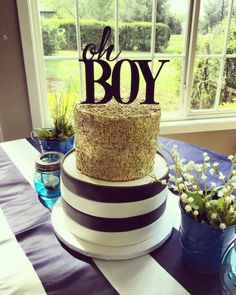 Boy Baby Shower! Oh Boy! Navy and white Baby shower   #amyscupcakeshoppe #babyshower #boybabyshower