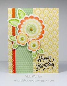 90 best cards with patterned papers images on pinterest in 2018 card by vicki wizniuk using ctmh chantilly paper m4hsunfo
