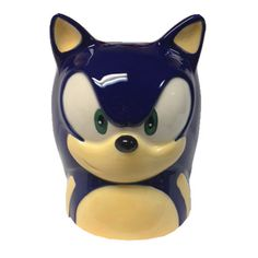 Sonic the Hedgehog Face Molded 16 oz. Mug - Classic Imports - Sonic the Hedgehog - Mugs at Entertainment Earth