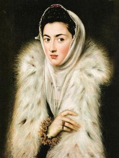 El Greco - A Lady In A Fur Wrap fine art preproduction . Explore our collection of El Greco fine art prints, giclees, posters and hand crafted canvas products 1500s Fashion, Renaissance Kunst, Glasgow Museum, Art Gallery, Spanish Art, Fur Wrap, Caravaggio, A4 Poster, Female Art