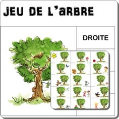 Repérage spatial gauche droite - Le jeu de l'arbre