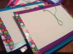 DIY cookie sales clip boards. This would be a simple and inexpensive craft for the cookie rally.  Supplies: Cardboard cut to size Card stock paper cut to size Multiple duct tape designs Office clips Embroidery floss Pencil