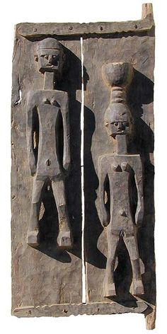 Africa | House door from the Dogon people of Mali | Wood | © Tim Hamill