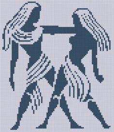 Terri Lynn - Zodiac Gemini - Cross Stitch Pattern by Motherbeedesigns – em: craftsy.com