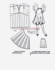Chinese method of pattern making - skirts - modelist kitapları Chinese method of pattern making - skirts - modelist kitapları Techniques Couture, Sewing Techniques, Sewing Pants, Sewing Clothes, Skirt Patterns Sewing, Clothing Patterns, Pattern Cutting, Pattern Making, Sewing Collars
