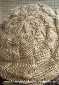 """La calle de la abuela"": Gorro con agujas circulares. Patrón gratis. Knitted Baby Clothes, Crochet Baby Hats, Baby Knitting, Knitted Hats, Circular Needles, Beanie Hats, Knitting Projects, Winter Hats, Blanket"