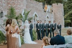Wedding Ceremony at Pierce Castle in Decatur, Mississippi--Mississippi's Premiere Wedding and Event Venue. Photo by Jennifer Elisha Photography.
