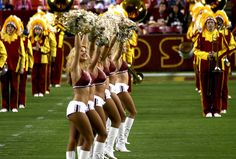 """The Washington Redskins Cheerleaders were the first, and continue to be the longest running ""Professional"" National Football League cheerleading organization. Originally called the Redskinettes, they have cheered for the Washington Redskins since Se  :)"