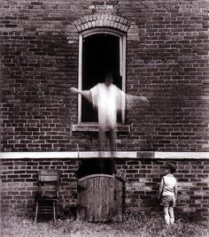 Ralph Eugene Meatyard  Untitled (Michael and Christopher outside brick building)  1960
