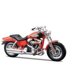 Miniatura Moto Harley-Davidson 2009 FXDFSE CVO Fat Bob Maisto 1:18 - Machine Cult   A loja das camisetas de carro e moto