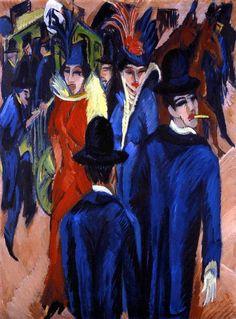 Kirchner.Berlin Street Scene, 1913. Oil on canvas.