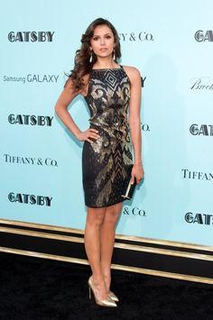 Nina Dobrev in Versace at The Great Gatsby premiere