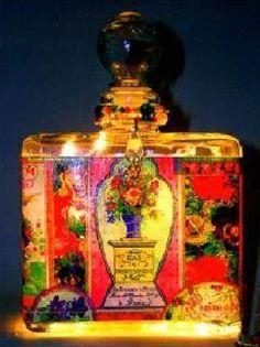 Rose Bouquet Perfume Bottle Nightlight ( Night Light ) – Roses And Teacups