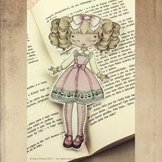 Lolita Loves Cupcakes bookmark от ribonitachocolat на Etsy