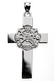 fire fighter sterling silver Maltese cross from Lannan Jewelry services Click here to purchase  http://workwithnicklannan.com/logo/firefighter-jewelry-silver-pendant-maltese-cross/
