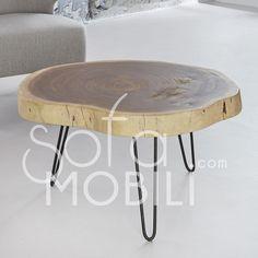 Table basse bois massif NAOMI