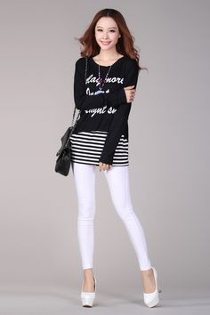 Autumn Fashion Long Sleeve Loose Printing T-Shirt