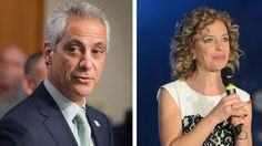 Time for These Two Democrats to Go  --  Left: Rahm Emanuel (Photo by Scott Olson/Getty Images). Right: Debbie Wasserman Schultz (Photo by Stephen Lovekin/Getty Images for OurTime.org).