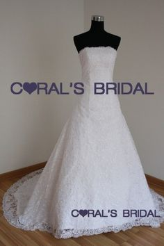 full lace a-line wedding dress