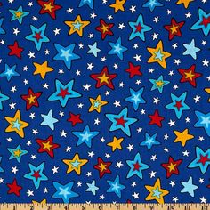 Celebrate Seuss 3 Stars Blue from @fabricdotcom  Licensed to Robert Kaufman Fabrics by Dr. Seuss Enterprises, this cotton print is perfect for quilting, apparel and home décor accents. This is a licensed fabric and not for commercial use. Colors include yellow, turquoise, red and white on a royal blue background.