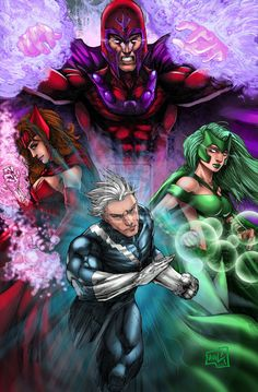 Magneto Family Commission colors by hanzozuken on DeviantArt