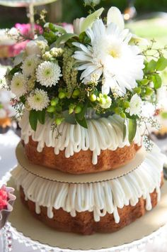 What A Pretty Cake For Shower Reception Party Nothing Bundt Cakes