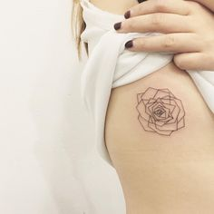 geometric flower tattoo - tattoo people toronto - jess chen
