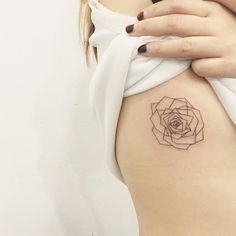 geometric flower tattoo - tattoo people toronto - jess chen